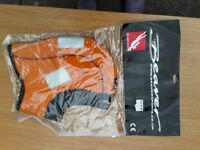 Semi-dry hood for dive suit. High viz, orange, extra-large. Still in packet
