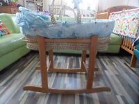 Clare De Lune Moses Basket with Rocking Stand