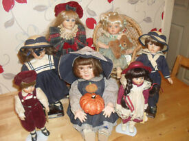 7pc ALBERON PORCELIAN DOLL BUNDLE