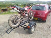 Trailer for motorbike