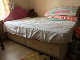 4 drawer double bed & headboard