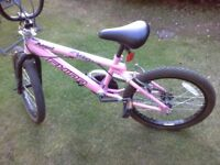 as new pink RHINO ANGEL BMX bike bicycle