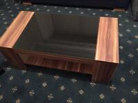 Premier Fargo walnut/black gloss coffee table or tv unit for sale, brilliant condition ONLY £20