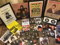 Beatles posters photographs sign records