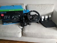 Logitech G920 Driving Force USB Wheel/Pedals/Shifter for Xbox/PC
