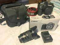 Canon 6D Digital SLR Camera (8500 shots) + 28-135mm Canon EF 3.5-5. IS Lens and Extras