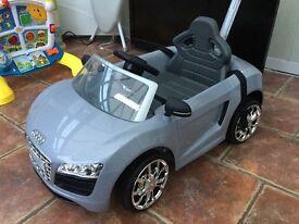 Audi push car