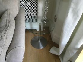 Glass side table and TV unit