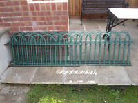 Green Powder Coated Wrought Iron Railing