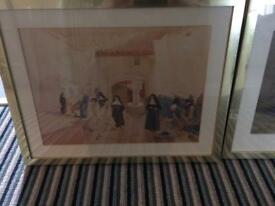 """Russell Flint"" framed pictures."