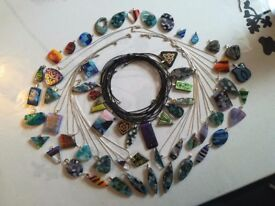 Fused glass jewellery collection with 60 % discount