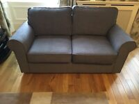 Quality bed settee, nearly new, grey 2 seater