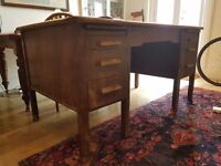 Vintage/antique wooden desk Abbess Woodware w/ drawers