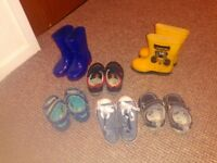 Job lots of boys shoes and wellies