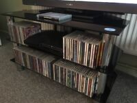 glass dvd units and tv unit