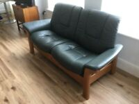 Ercol leather settee