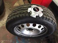 Urgent sale 16 Mini Steel wheels with tyres