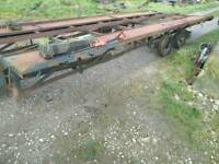 Large twin axle twin car transporter trailer