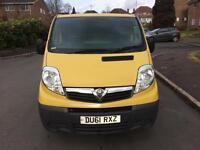 61 Reg 2011 Vauxhall Vivaro 2.0 CDTi 6 Speed 2900 Panel Van Full Dealer History MOT NO VAT