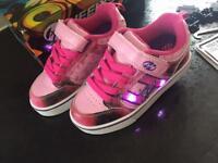 Heeleys pink bolt plus X2 size 12 UK