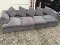 Grey 4 seater sofa good condition