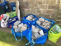 FREE RUBBLE - 8 bags of rubble bagged up for collection