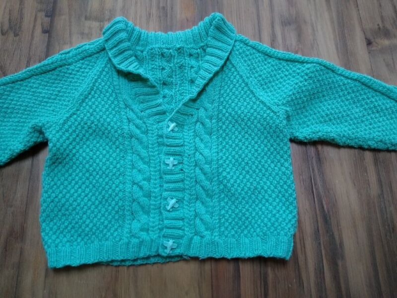 50p baby knitted cardigan, winter 3-6 months aeroplane buttons, used for sale  Newcastle, Tyne and Wear