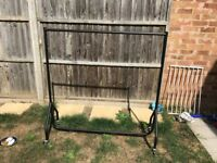 4ft heavy duty clothes rail on wheels for home / car boot / moving house