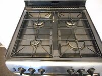 NEWWORLD DUAL FUEL DOUBLE OVEN COOKER**STEEL/BLACK**