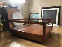 Post Modern Walnut and glass top coffee table