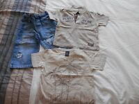 Lovely Next jeans, t-shirt & polo shirt, 12-18 months in excellent condition.