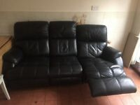 Lovely black sofa reclines
