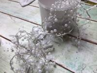 3 sets of fairy lights with pearls