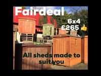 6x4 garden shed *free delivery