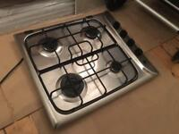 Gas Hob - 4 burners, fully working, stainless steel