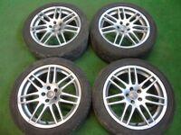 """AUDI RS4 STYLE AUDI TT MK1, A3, VW GOLF MK4, BORA, BEETLE 17"""" ALLOY WHEELS"""