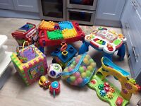 Large bundle of baby and toddler toys