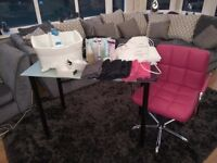 Job lot, table, chair, footspa, booties, mitts and much more, £85