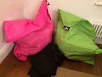Elephant Junior Bean Bags for sale. 1 Shocking Pink and 1 Zingy Lime - indoor/outdoor use