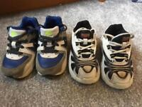 2 pairs of boys Nike air max infant size 5 and 5.5