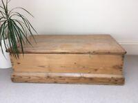 Antique pine storage/toy box