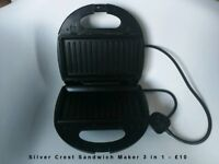 Silver Crest Sandwich Maker 3 in 1