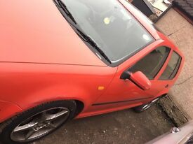 Volkswagon golf 1.6 red 5 door 98reg