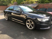 Black audi A6 sline diesel FULL AUDI DEALER SERVICE 2013 spec BELFAST NEWCASTLE full leather Sat Nav