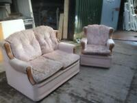 1 & 2 seater sofa with armchair