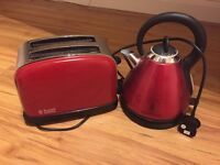Kettle and 2 slice toaster set Russell Hobbs