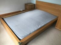 Ikea double bed frame (no slats) & choice of mattresses *Free to collect*