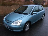 HONDA CIVIC 1.6 ** AUTOMATIC ** 02 PLATE ** 40,000 MILES FROM NEW **