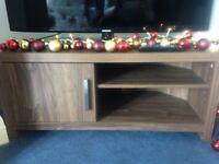Next walnut veneer corner TV unit