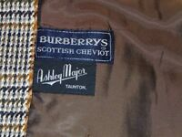 Vintage Burberry Ladies Scottish Cheviot Coat